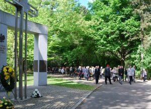 3 сентября 2018 г. Возложение венков на Восточном кладбище в Лейпциге.